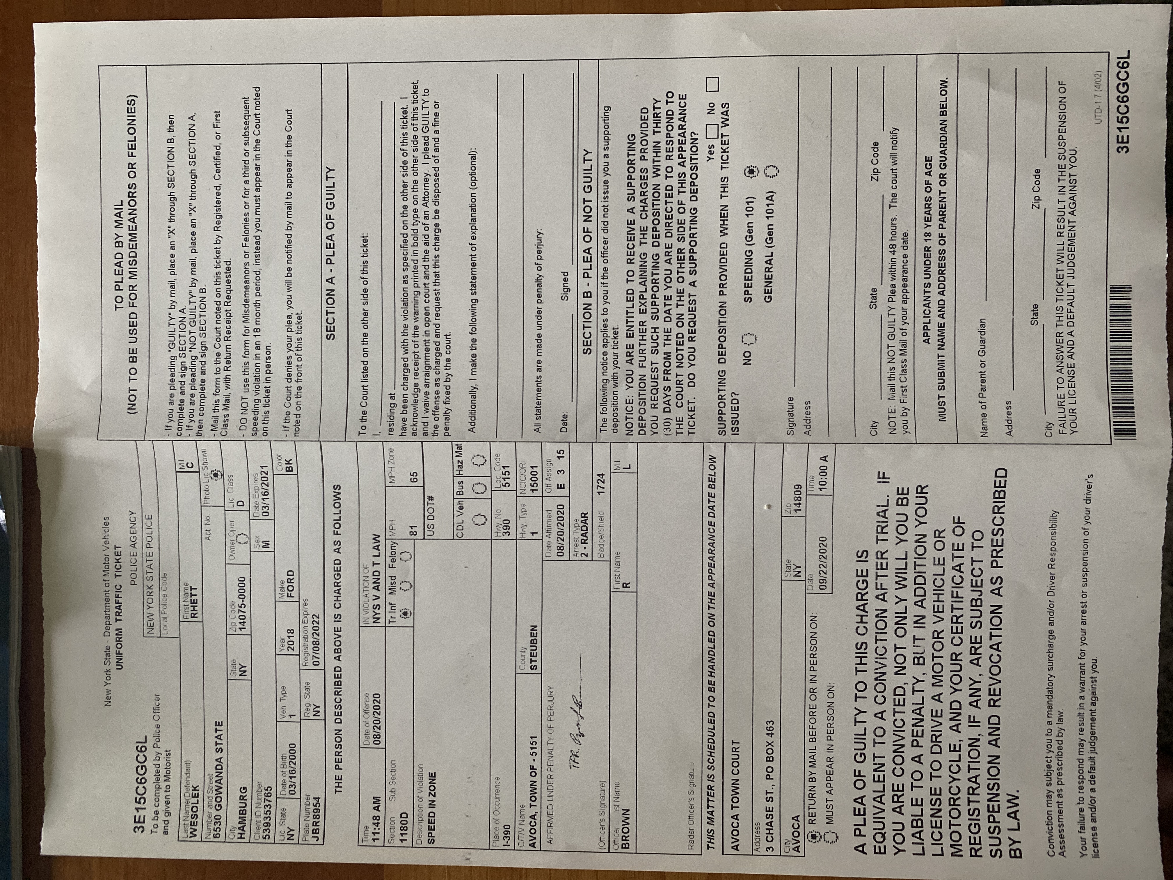 Attach a photograph or scan of your citation(s).